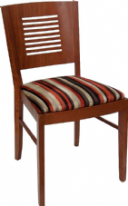 Joe Wooden Side Chair with Upholstered Seat
